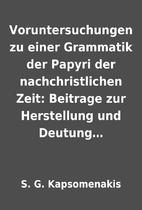 Voruntersuchungen zu einer Grammatik der…