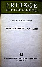 Bauernkriegsforschung by Friedrich…