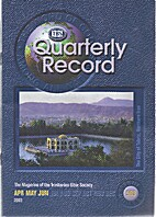 TBS Quarterly Record, Apr, May, Jun 2003