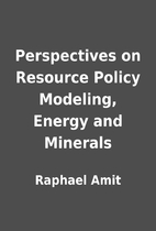 Perspectives on Resource Policy Modeling,…