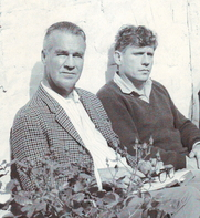 Author photo. D.P. Walker (left) with Gerard Reve