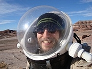 Author photo. David D. Levine at the Mars Desert Research Station (MDRS) in Utah