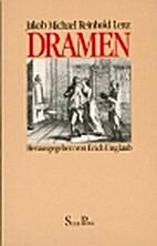 Dramen des Sturm und Drang by Jakob Michael…