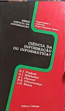 Ciência da informação ou informática by…