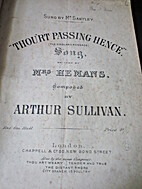 Thou'rt passing hence. Song, written by…