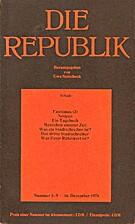 Die Republik (Nummer 5-9 / 16. Dezember…