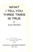 What I tell you three times is true by…