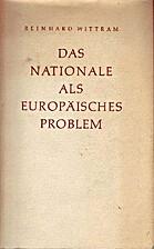 Das Nationale als europäisches Problem by…