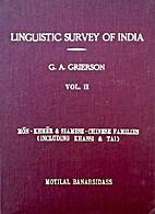 Linguistic survey of India. Vol. II:…