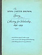 Collecting for scholarship, 1846-1959. An…