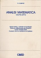 Analisi matematica Vol. 1 by Alfredo Lorenzi