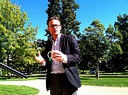 Author photo. Jonathan Mooney at Kenyon College, September 24, 2015.