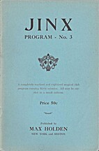 JINX Program No 3: a magical club program by…