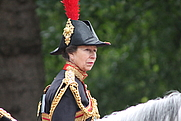Author photo. HRH Princess Anne, Trooping the Colour, June 2013 [credit: Wikimedia Commons user Carfax2]
