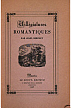 Villegiatures Romantiques by Jules Bertaut