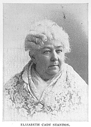 Author photo. Elizabeth Cady Stanton (1815-1902), Buffalo Electrotype and Engraving Co., Buffalo, N.Y.