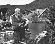 Author photo. Lamar Dodd at Marys Lake, Colorado-Big Thompson Project, Colorado<br>Source: <a href=&quot;http://www.usbr.gov/museumproperty/art/biododd.html&quot;>US Bureau of Reclamation Fine Art Collection</a>