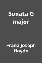 Sonata G major by Franz Joseph Haydn