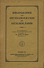 Bibliographie zur Ortsnamenkunde der…