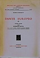 Dante europeo. III. Poema sacro come…