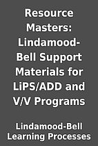 Resource Masters: Lindamood-Bell Support…