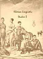 Khoisan linguistic studies 3: [proceedings]…
