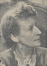 Author photo. Cropped scan of back cover of Penguin No.614 - picture attributed to Lettice Ramsey.