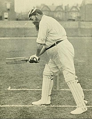 "Author photo. W.G. Grace, cutting. Photography by Brighton Hawkins from page 368 of ""W.G."", cricketing reminiscences and personal recollections (1899)"
