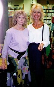 Author photo. Susan Dunlap with Justine in Nashville