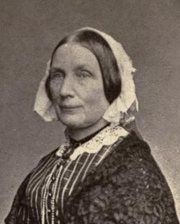 Author photo. Mary Howitt. Frontispiece from An autobiography (1889)