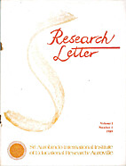Research Letter by Kireet Joshi