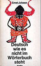 Deutsch wie es nicht im Wörterbuch steht by…