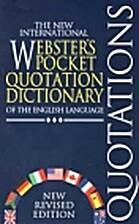 The New International Webster's Pocket…