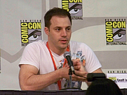 Author photo. Geoff Johns Spotlight, San Diego Comic-Con International 2009, photo by Loren Javier