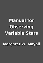 Manual for Observing Variable Stars by…