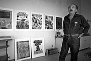 Author photo. Antonio Frasconi in his studio in 1978. Credit Jack Manning/The New York Times