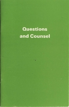 Questions and Counsel by Peter J. Eccles