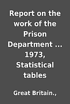 Report on the work of the Prison Department…