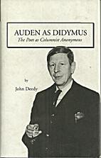 Auden As Didymus - The Poet as Columnist…