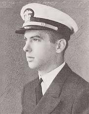 Author photo. Lieutenant (j.g.) John Monsarrat, June 1942 [source: Angel on the Yardarm, by John Monsarrat; Naval War College Press, 1985, page iv]