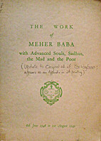 The work of Meher Baba with advanced souls,…