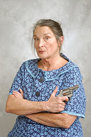 Author photo. Anne Shelby as Aunt Molly Jackson