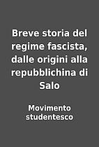 Breve storia del regime fascista, dalle…