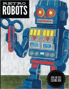 Retro Robots: Robot & Space Coloring Book by…