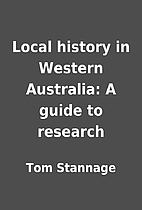 Local history in Western Australia: A guide…