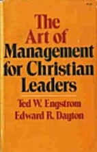 The art of management for Christian leaders…