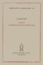 Saggi di bibliografia testuale by Conor Fahy