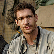 Author photo. Tim Hetherington in Afghanistan.