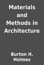 Materials and Methods in Architecture by…