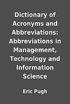Dictionary of Acronyms and Abbreviations:…